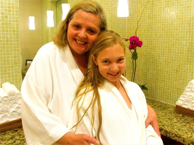 Celebrating Mothers! Mom and daugher at a luxury spa in Dallas