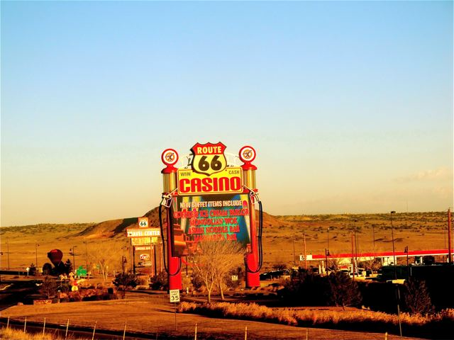 Route 66 - Indian casnino in New Mexico