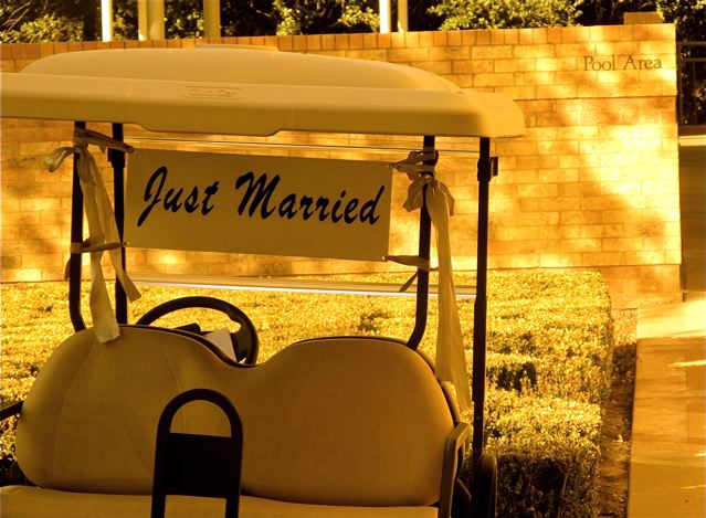Love and Romance on the Road - adorable just married sign