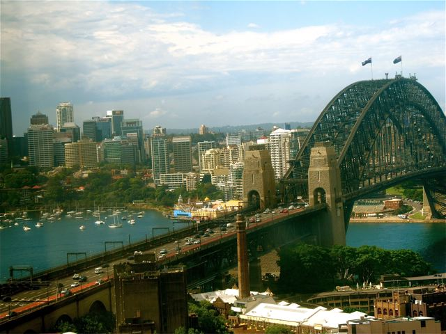 Sydney view from our Four Seasons suite
