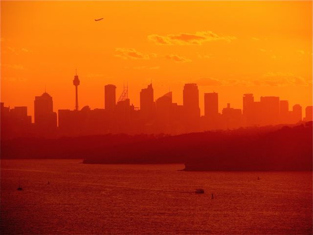 beautiful Sydney sunset