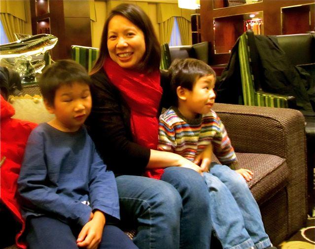 happy expat family from California in China