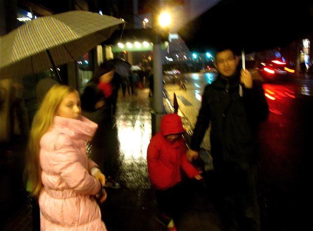 Elliott Ng, Mozart and family walking The Bund in Shanghai
