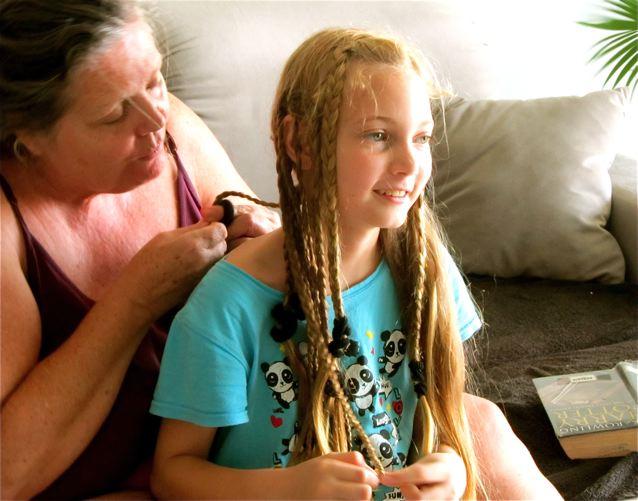 Celebrating Mothers! Simple pleasures like mom braiding hair in Asia