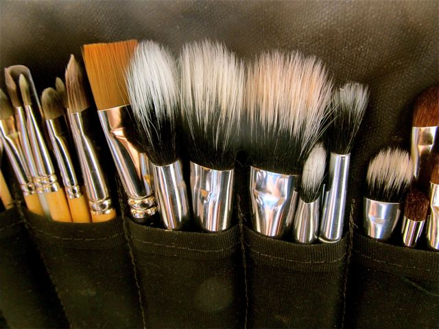 beautiful natural make up brushes