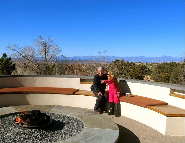Enjoying the firepit at Santa Fe Four Seasons Resort