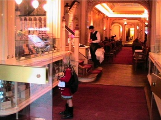 best chocolate in the world - Mozart in Paris at Angelina for chocolate