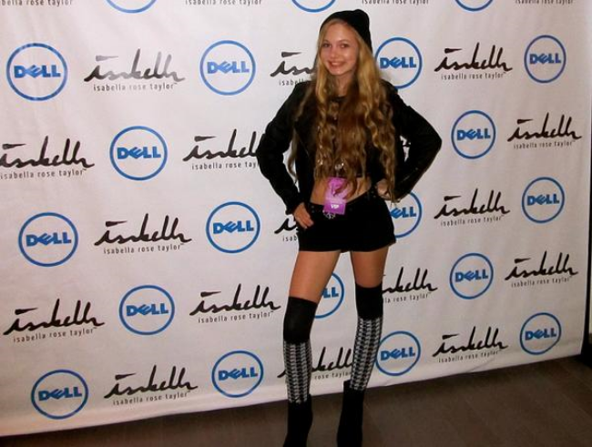 travel teen and singer Mozart on the red carpet for New York Fashion Week
