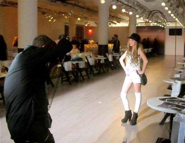 Singer Mozart on Elle Magazine Runway at New York Fashion Week photographed by Tom Concordia
