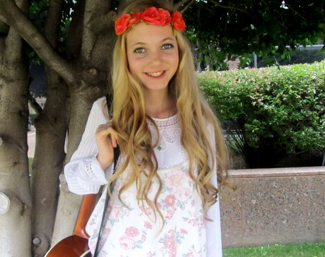 trilingual teen Mozart ready for more adventures in travel and fashion and music!