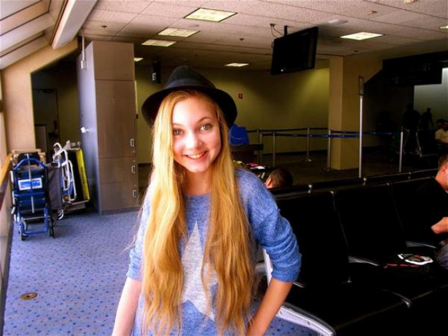 RTW travel teen Mozart at the airport, her second home!