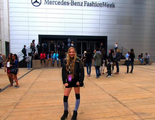 travel teen and youtuber Mozart at #MBFW New York Fashion Week in Lincoln Center