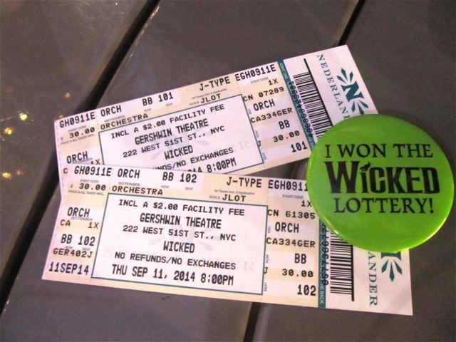 IMG_0162NYC Broadway Best Secret? Winning Wicked Lottery Tickets-Cheap!