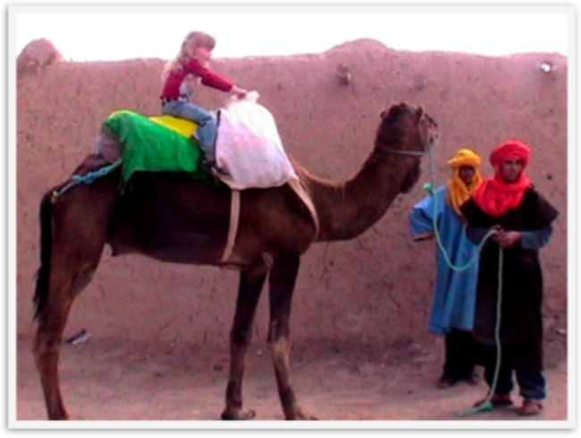 6 year old Mozart on a camel in Morocco