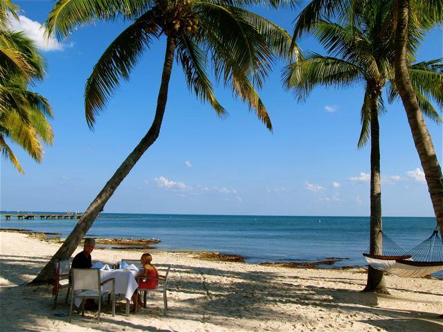 Key West luxury lunch on the beach