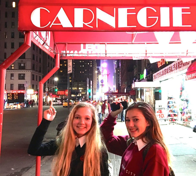 teen Mozart after performing at Carnegie Hall in NYC
