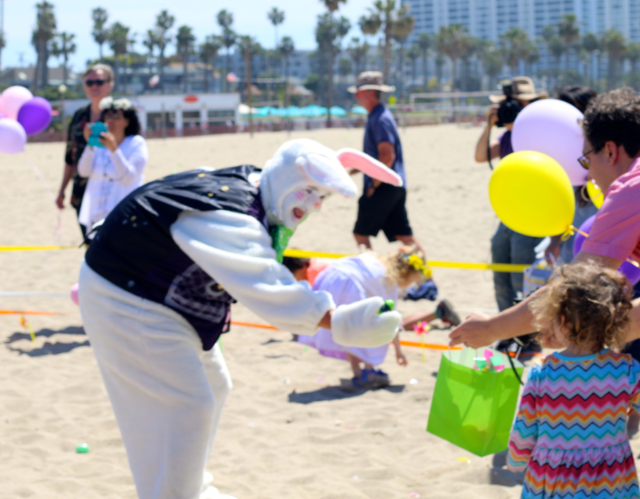 Easter bunny at the beach.