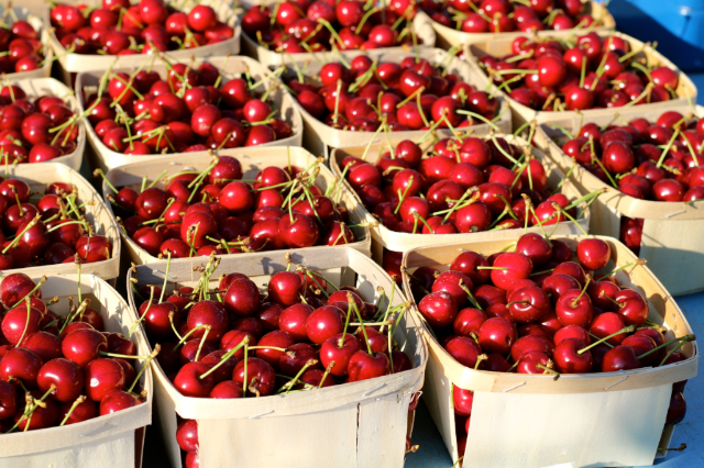 Cherries at Best Provence Farmers' Market  - Coustellet in the Luberon