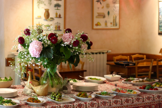 Stunning Provence buffet at Hotel Les Mas Des Gres