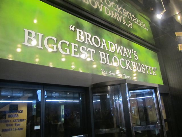 Winning tickets to Wicked in NYC