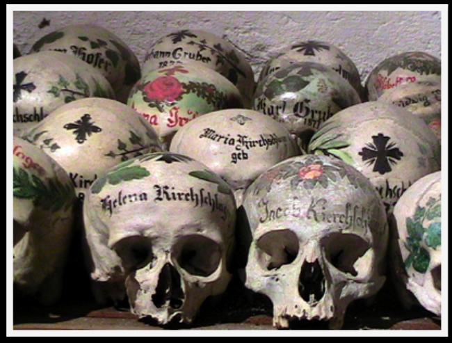 Halloween travel around the world - decorated skulls in Europe
