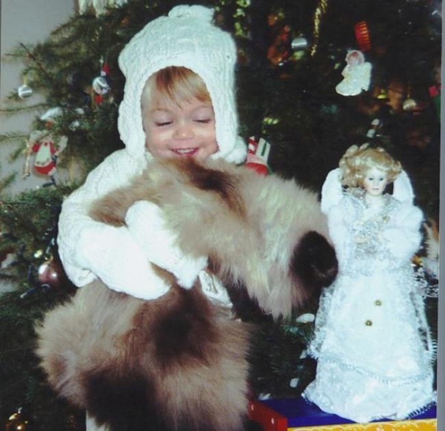 Cut Your Own Christmas Tree! Sustainable Family Fun Tradition -Baby Mozart & her beloved cat by the Christmas tree