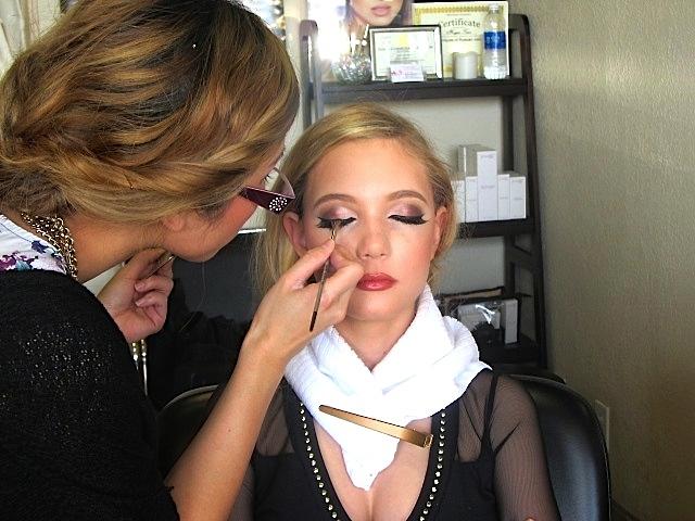Teen singer Mozart gets make up by B.madebyBebe
