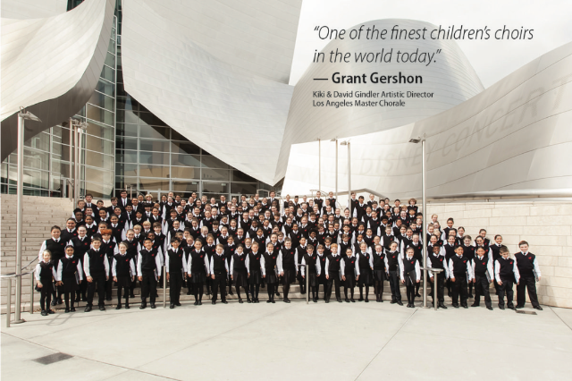 Teen singer Mozart singing at Disney Hall with National Children's Chorus