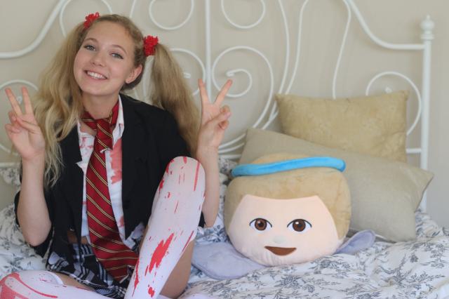 Triple threat teen Mozart Dee stars in Kmart Halloween commercial