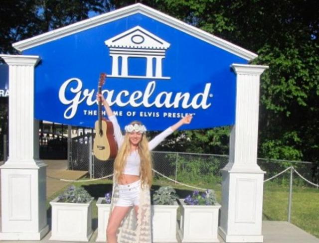 Mozart Dee at  Graceland -Elvis's home -  Memphis