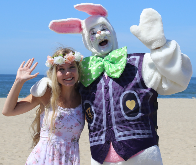 Easter at the Beach in Santa Monica!  Mozart and the Easter Bunny