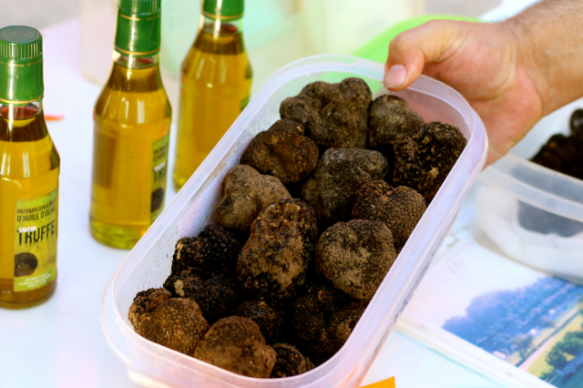 Truffles in Best Provence Farmers' Market  - Coustellet in the Luberon