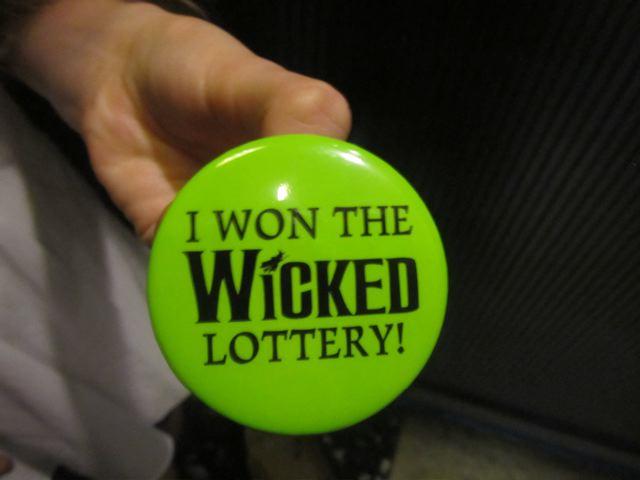 I won the Wicked lottery