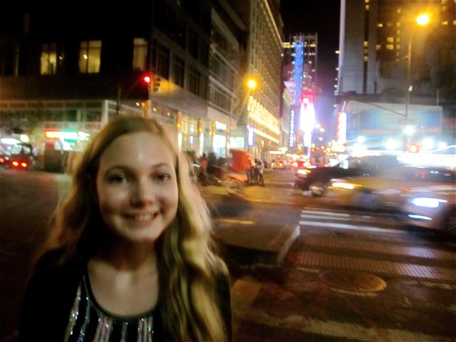 Mozart in NYC at night - feels right at home