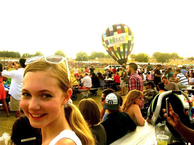 singer Mozart at Hot Air Balloon Festival!