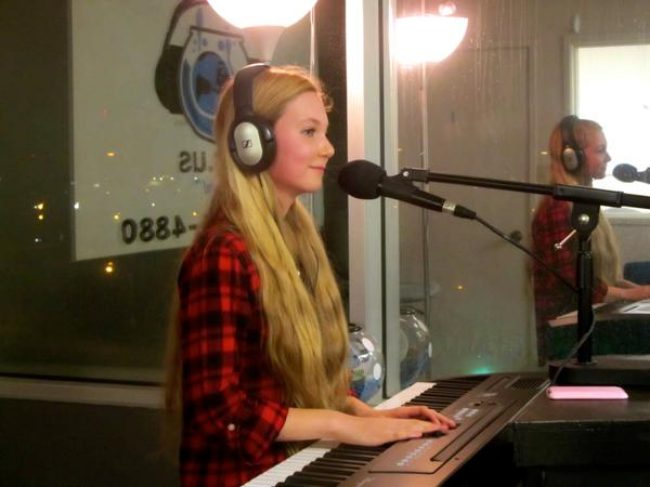 """Mozart's Recording Her Beautiful Song """"You're Not Alone""""! ( Here on the radio)"""