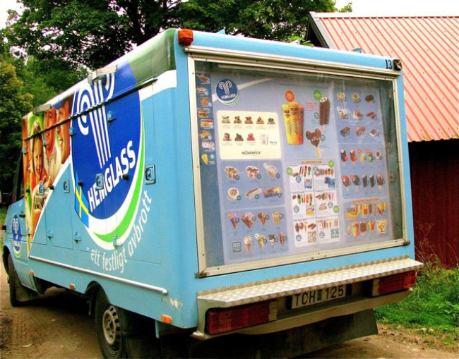 Ice cream truck in Sweden