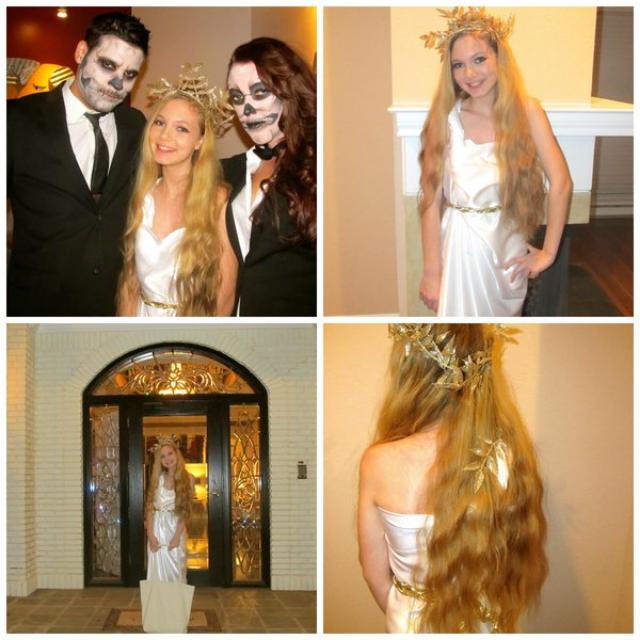 Happy Halloween DIY Cute Cheap Last Minute Costumes Greek Goddess