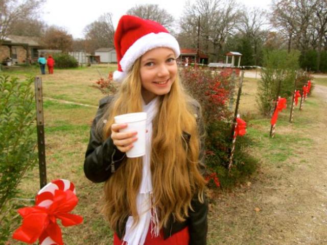 Mozart enjoying Hot chocolate celebrating Christmas