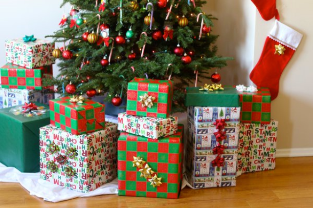 Happy Holidays! Gifts under the tree at Soultravelers3 new home