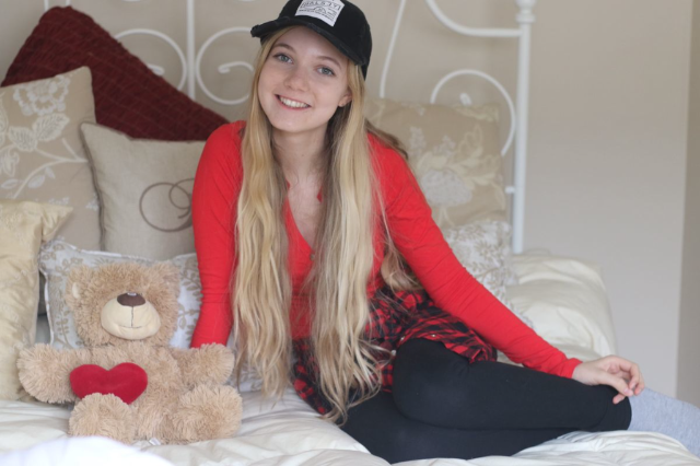 Teen actress and singer Mozart at home in Los Angeles