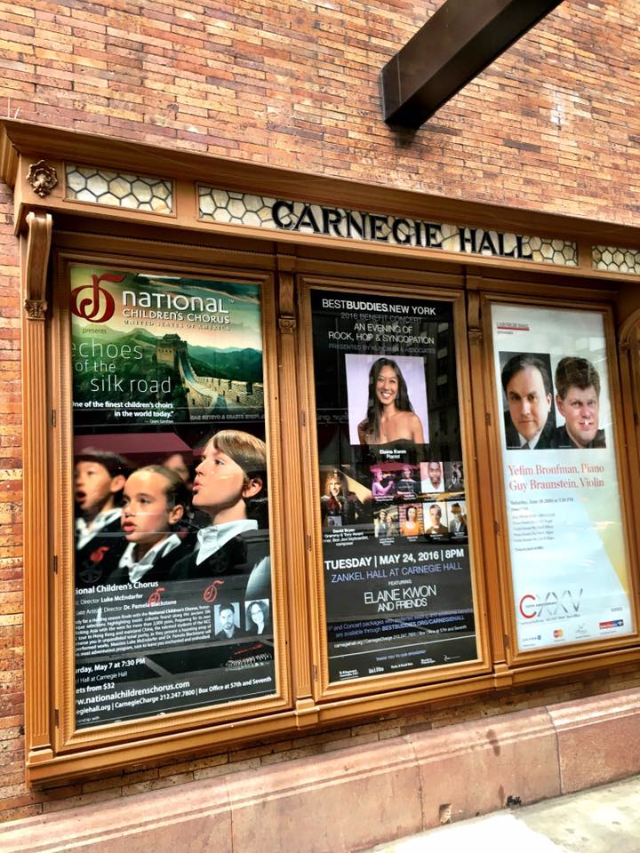 Mozart singing at Carnegie Hall with National Children's Chorus