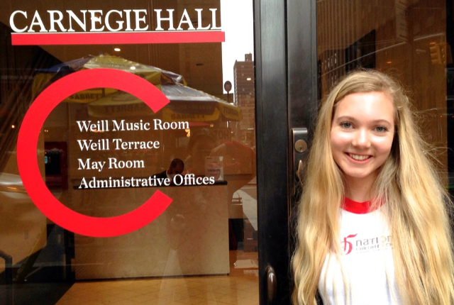 15 year old Mozart Sings at Carnegie Hall in NYC - rehearsing