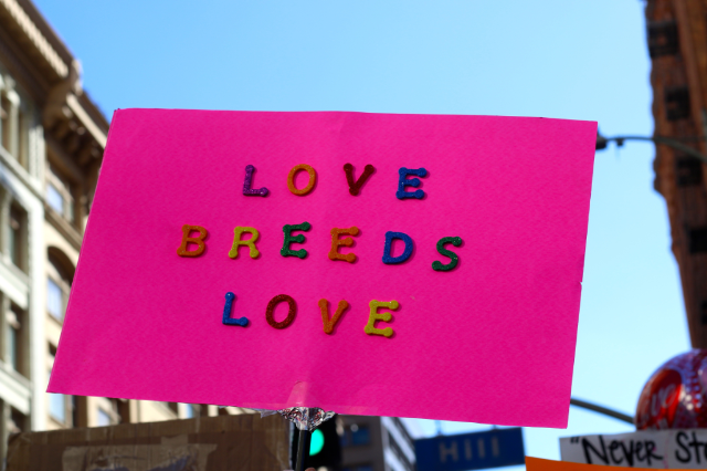 So much love at the Women's March