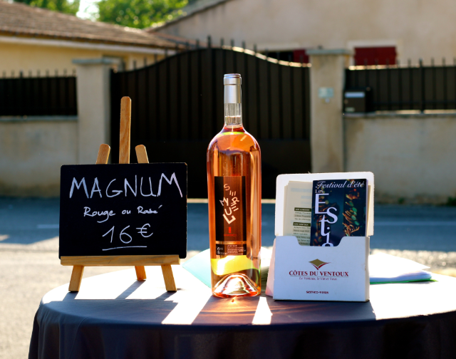 wine in Best Provence Farmers' Market  - Coustellet in the Luberon
