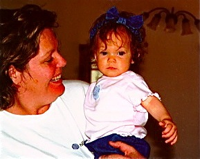 Heavenly Reyna at 6 months old with mother